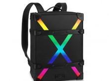 LV/路易威登 M30337 彩虹色 X图案 SOFT TRUNK 小号双肩包