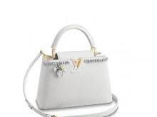 LV/路易威登 M53245 白色 金属链条 CAPUCINES BB 手袋