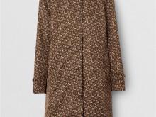 Burberry 80216861 马鞍棕 专属标识条纹印花尼龙轻便大衣