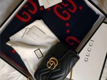Gucci新款双面羊毛围巾|双G大logo|冬日必备