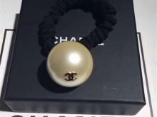 CHANEL/香奈儿超大珍珠金色双C发绳