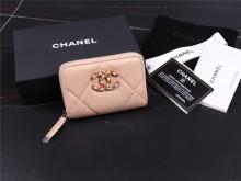 Chanel AP0949 B01901 N5334 粉色 19拉链零钱包