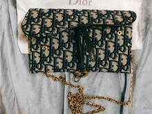 Dior链条钱包woc mini SADDLE OBLIQUE