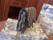 Dior Oblique系列---老花woc二合一链条包