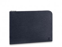 LV M64154 蓝色水波纹 POCHETTE JOUR 大号手袋