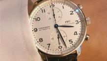IWC万国葡萄牙计时腕表IW371446,正装黄金搭档