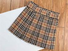 Burberry经典格纹迷你苏格兰半身裙