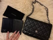 Chanel黑银 WOC+漆皮卡包