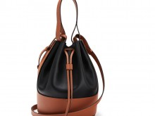 Loewe罗意威 0010444545 黑色/棕褐色 Balloon 气球包
