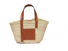 Loewe罗意威 0010111482 原色/棕褐色 Basket 草编篮子包