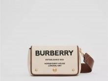 Burberry博柏利 80266081 小号 Horseferry 印花棉质帆布斜背包
