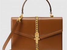 Gucci古驰 602781 1DB0G 2535 棕色 Sylvie 1969系列小号手提包