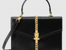 Gucci古驰 602781 1DB0G 1000 黑色 Sylvie 1969系列小号手提包