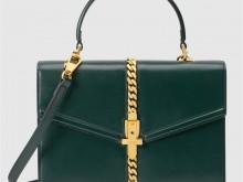 Gucci古驰 602781 1DB0G 3020 绿色 Sylvie 1969系列小号手提包