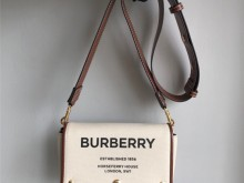 Burberry Horseferry印花棉质帆布斜背包
