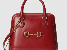 Gucci古驰 621220 红色 1955马衔扣系列小号手提包