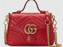 Gucci古驰 547260 红色 GG Marmont系列迷你手提包