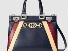 Gucci古驰 569712 三色款 Zumi系列光面皮革小号手提包
