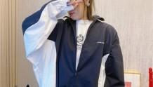 Balenciaga巴黎世家20新款撞色廓形复古夹克
