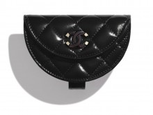Chanel香奈儿 AP1346 黑色 口盖零钱手腕包