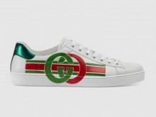 Gucci 576136 白色 Ace系列 互扣式双G 男士运动鞋