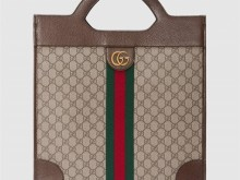 Gucci古驰 547941 Ophidia系列中号GG手提托特包