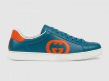 Gucci 625783 蓝色 Ace系列 互扣式双G 男士运动鞋