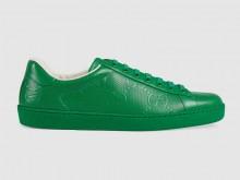 Gucci 625787 绿色 Ace系列 GG压花 男士运动鞋