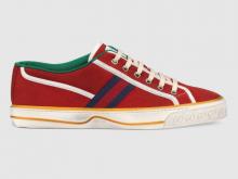 Gucci 606111 红色 Gucci Tennis 1977系列 男士运动鞋