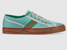 Gucci 606111 蓝色 Gucci Tennis 1977系列 男士运动鞋