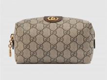 Gucci古驰 548393 棕色 Ophidia系列GG化妆包