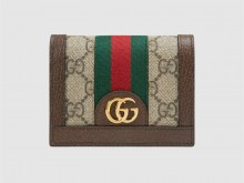 Gucci古驰 523155 Ophidia系列GG卡包