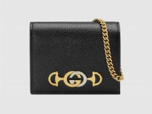Gucci古驰 570660 黑色 Zumi系列卡包