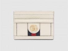 Gucci古驰 523159 白色皮革 Ophidia系列卡片夹