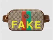 """Gucci古驰 602695 """"Fake/Not""""印花腰包"""