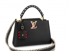 LV M56764 黑色 编织手柄 LV CRAFTY CAPUCINES 小号手袋