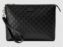 Gucci古驰 473881 Signature柔软皮革手拿包