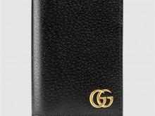 Gucci古驰 428737 GG Marmont系列皮革卡片夹