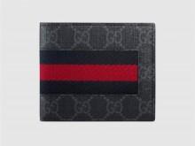 Gucci古驰 408827 GG高级人造革织带钱包