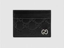 Gucci古驰 473927 Signature皮革卡片夹