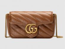 Gucci 476433 0OLFT 2535 GG Marmont系列 绗缝超迷你手袋