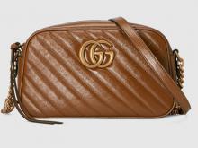 Gucci 447632 0OLFT 2535 GG Marmont系列 绗缝小号肩背包