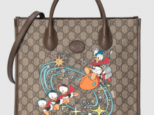 Gucci 648134 2N0AT 8679 Disney x Gucci唐老鸭印花 托特包