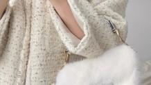 迪奥2020秋冬新款纯白水貂毛马鞍包|太仙了