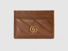 Gucci 443127 0OLFT 2535 GG Marmont系列 绗缝卡片夹