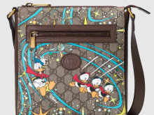 Gucci 645054 2O4AT 8679 Disney x Gucci唐老鸭印花 邮差包