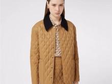 Burberry复古菱形格绗缝夹克外套