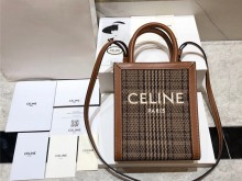 Celine 复古风千鸟格tote 购物袋