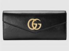 Gucci古驰 594101 1DB0G 1000 Broadway系列 饰双G皮革手拿包