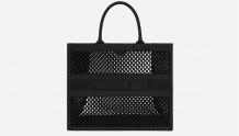 Dior M1286ZWRA_M911 黑色网眼 BOOK TOTE 手袋